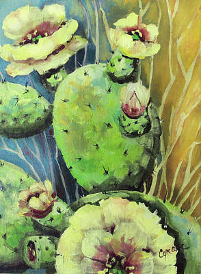 Painting - Those Bloomin' Cactus by Cynara Shelton