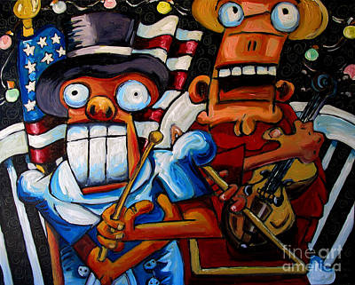 Politics Painting - Sold Those Sure Are Some Funny Looking Fireworks by Charlie Spear