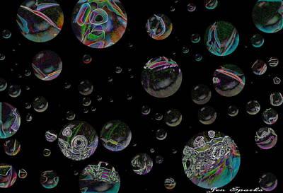 Thought Bubbles Art Print