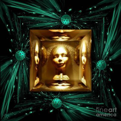 Gree Digital Art - Thoughts Mirror Box by Rosa Cobos