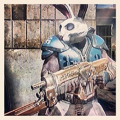 Gears Wall Art - Photograph - Thrashball 'easter Bunny' Cole by Dan Slade