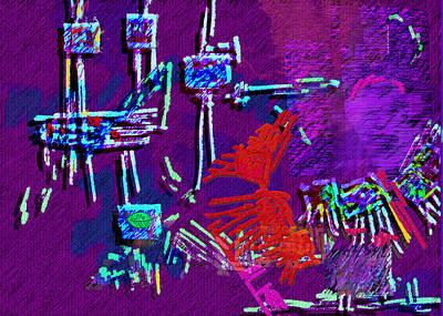 Threads Art Print by Mathilde Vhargon