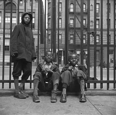 Three African American Boys In Harlem Print by Everett