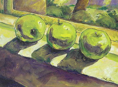 Painting - Three Apples by Sandy Tracey