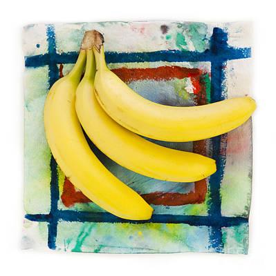 Three Bananas Art Print by Igor Kislev