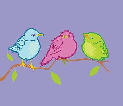 Three Birds Art Print