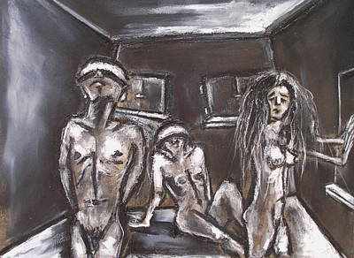 Three Blinded People Unable To Find A Way Out Art Print