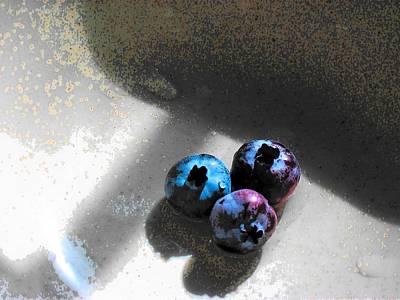 Three Blueberries Original by Wide Awake Arts