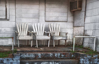 Photograph - Three Chairs Beyond Front Street by Brenda Bryant
