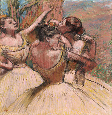 Degas Pastel - Three Dancers by Edgar Degas