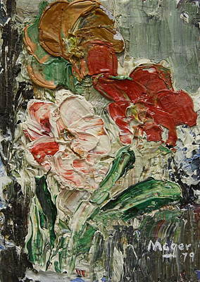 Painting - Three Flowers by Alan Mager