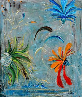 Painting - Three Flowers by Jamie Frier