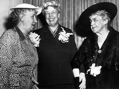 Three Former First Ladies, L-r Bess Art Print by Everett