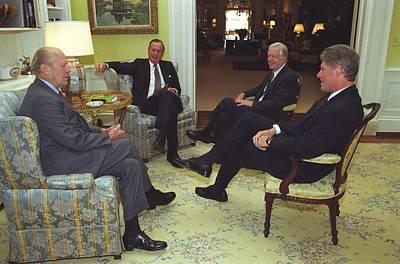 Three Former Presidents Gerald Ford Art Print by Everett