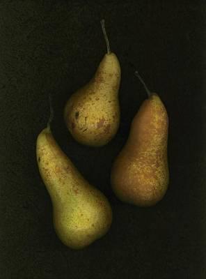 Three Golden Pears Art Print by Deddeda