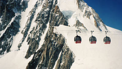 Photograph - Three Gondolas by C Sitton