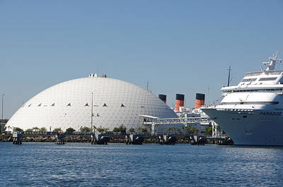 Spruce Goose Photograph - Three Graces Of Long Beach Harbor by Jeff Lowe