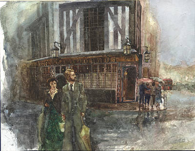 Painting - Three Greyhounds Pub London by Philippe Plouchart
