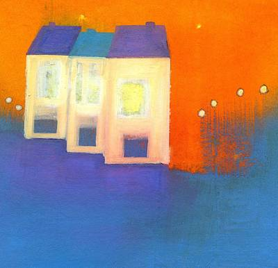 Painting - Three Houses by Agnes Trachet