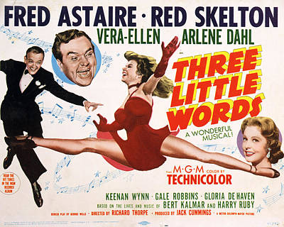Three Little Words, Fred Astaire, Red Art Print