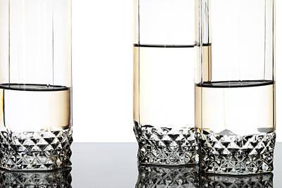 Three Luxury Glasses Art Print by Dmitry Malyshev