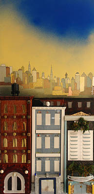 Painting - Three Nice Small Buildings by Robert Handler