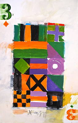 Painting - Three Of Diamonds 5-52  2nd Series  by Cliff Spohn
