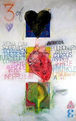 Three Of Hearts 32-52 Original by Cliff Spohn
