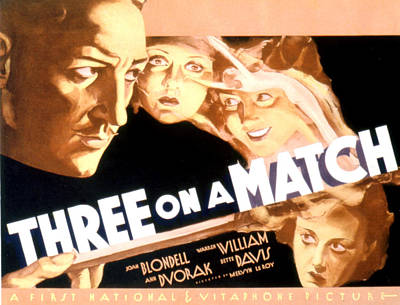 Three On A Match, Warren William, Joan Art Print