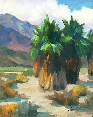 Painting - Three Palms by Diane McClary
