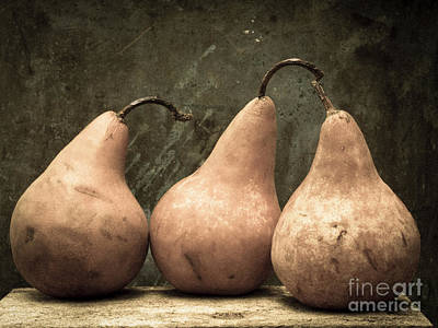Kitchen Art Photograph - Three Pear by Edward Fielding