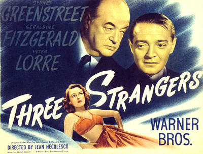 Three Strangers, Geraldine Fitzgerald Art Print by Everett