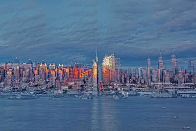 Skyline Photograph - Three Times New York City by Susan Candelario