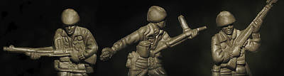 Three Toy Soldiers Of Fortune   Art Print