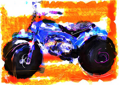 Three Wheels Of Fun Art Print by Russell Pierce