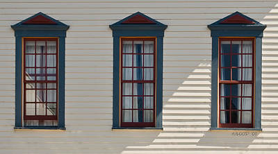 Photograph - Three Windows by Michael Flood