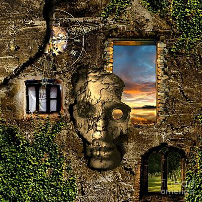 Castle Digital Art - Three Windows One Lies by Franziskus Pfleghart