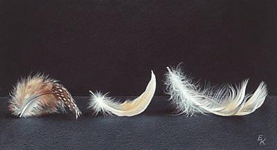 Drawing - Three Wishes by Elena Kolotusha