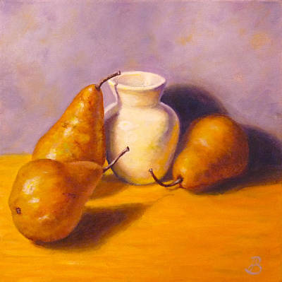 Painting - Three's A Pear by Joe Bergholm