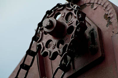 Photograph - Thresher Gear And Chain by Wilma  Birdwell