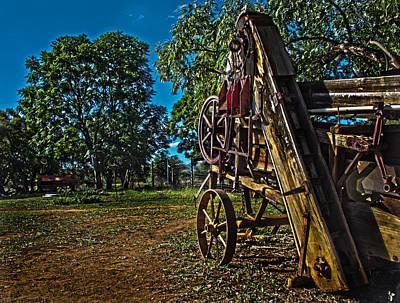 Rustenburg Photograph - Threshing Machine by Ronel Broderick