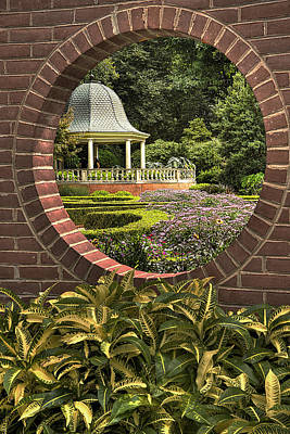 Through The Garden Wall Print by William Fields