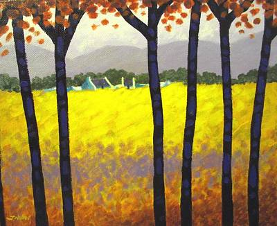 Spring Flowers Painting - Through The Trees by John  Nolan