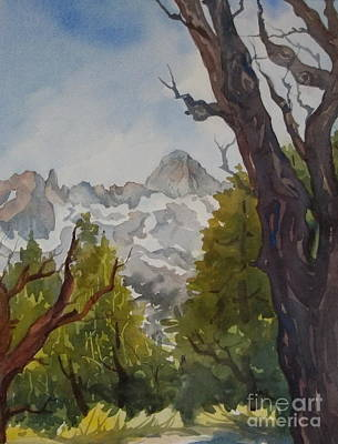 Painting - Through The Trees Minaret Summit by Pat Crowther