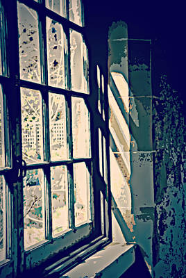 Art Print featuring the photograph View Through The Window - Painterly Effect by Marilyn Wilson