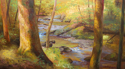 Cades Cove Painting - Through The Woods by Jonathan Howe
