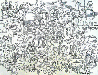 Chemical Drawing - Throw The Switch by Charlie Spear