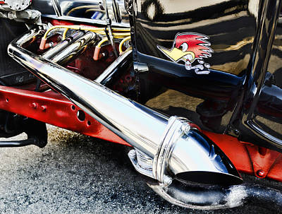 Red Street Rod Photograph - Thrush by Peter Chilelli
