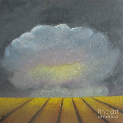 Wall Art - Painting - Storm Above The Wheat Field by Vesna Antic