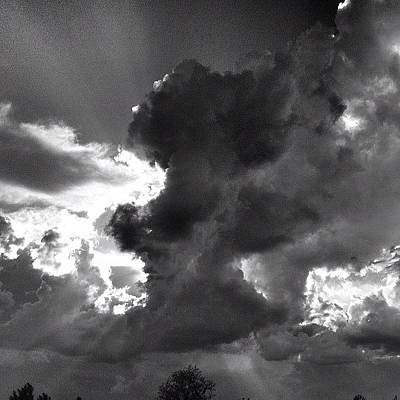 Cloud Wall Art - Photograph - Thunder by Dave Edens